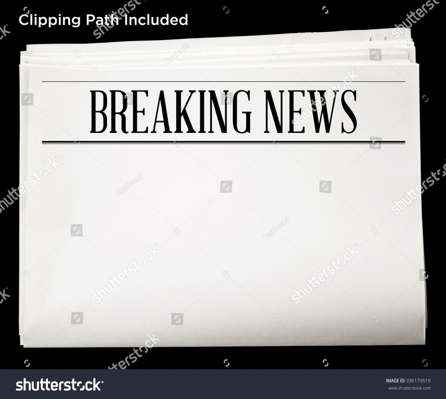 Breaking News Template Free Fresh Newspaper with Breaking News Headline and Blank Content