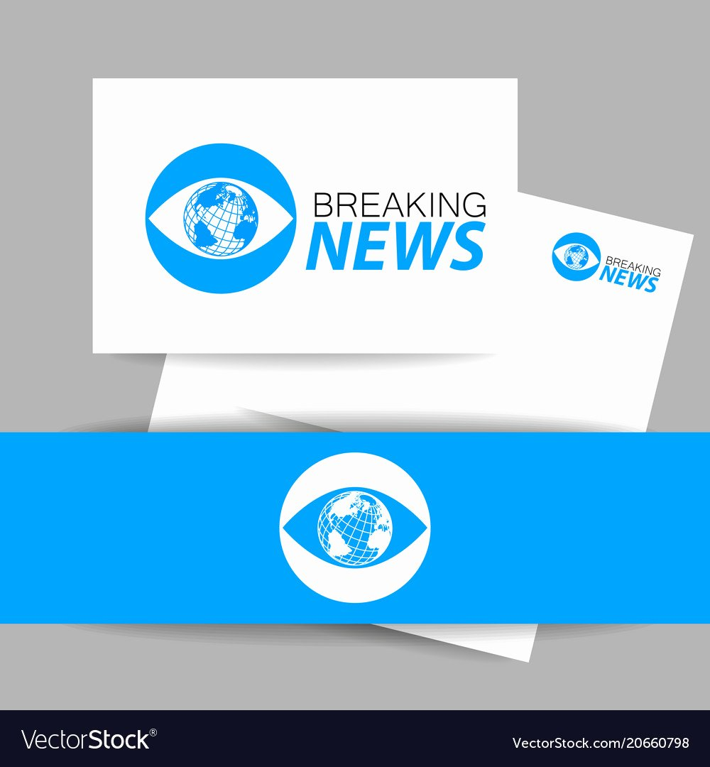 Breaking News Template Free Lovely Breaking News Logo Template Royalty Free Vector Image