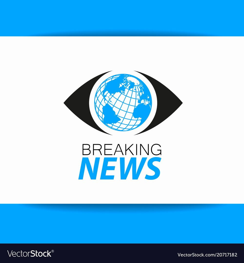 Breaking News Template Free Unique Breaking News Logo Template Royalty Free Vector Image