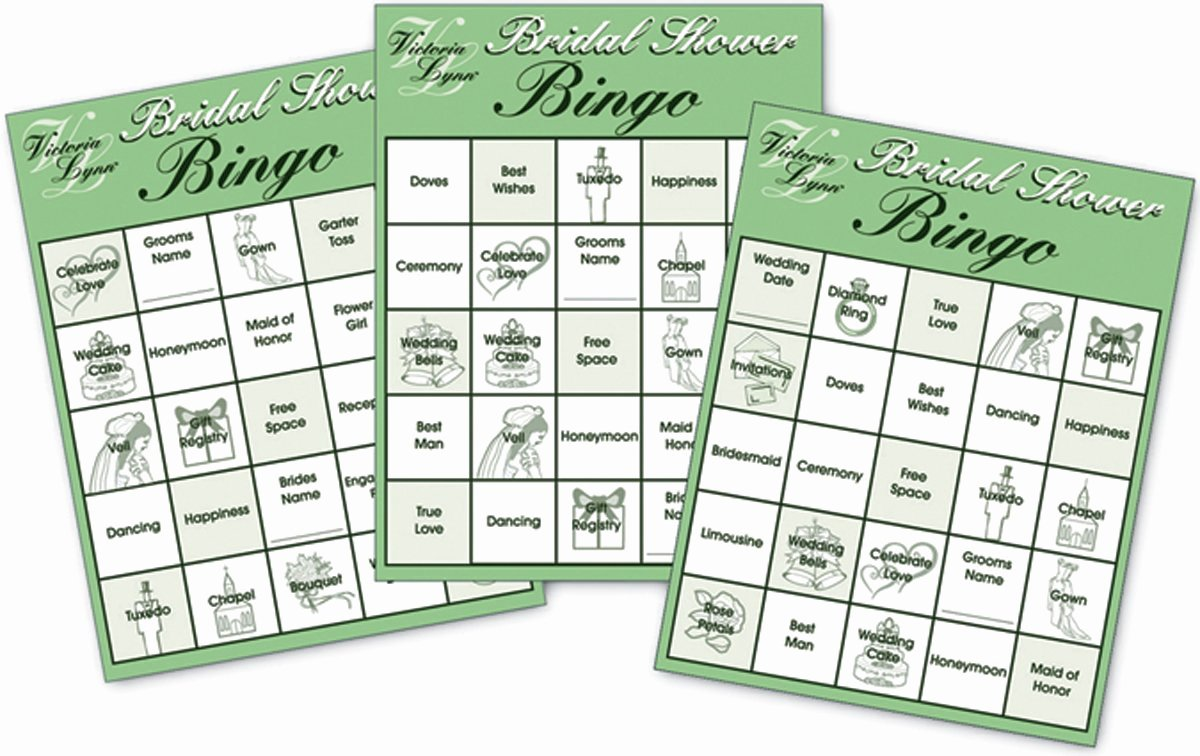 Bridal Shower Bingo Template Best Of Fun Bridal Shower Games Amazon