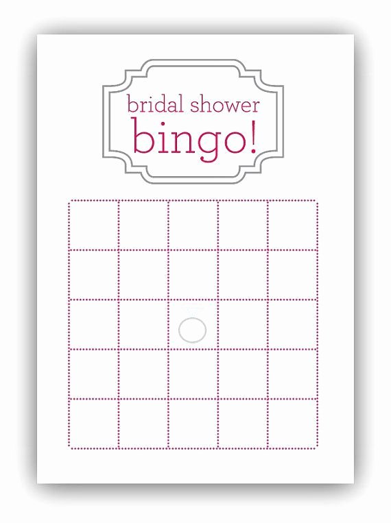 Bridal Shower Bingo Template Fresh Bridal Shower Bingo Card Template