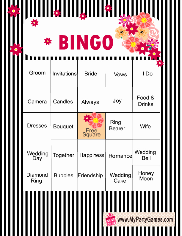 Bridal Shower Bingo Template Fresh Free Printable Bridal Shower Bingo Game Cards