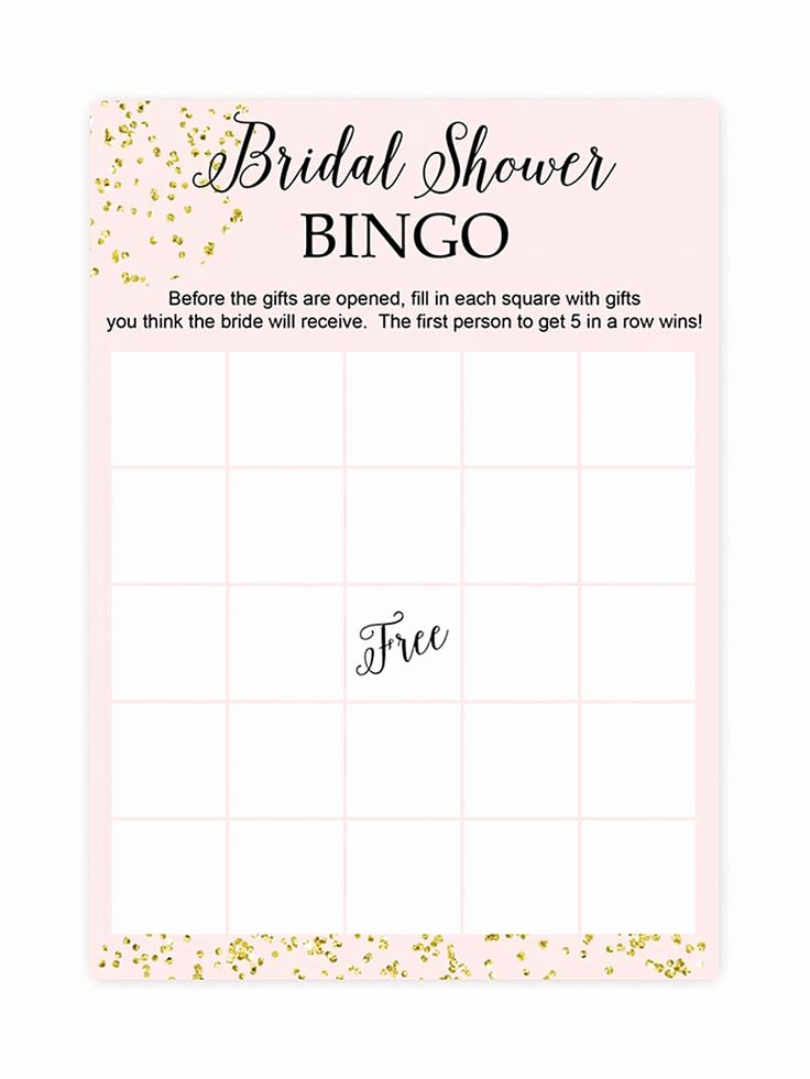 Bridal Shower Bingo Template Lovely Best 25 Bridal Shower Bingo Ideas On Pinterest