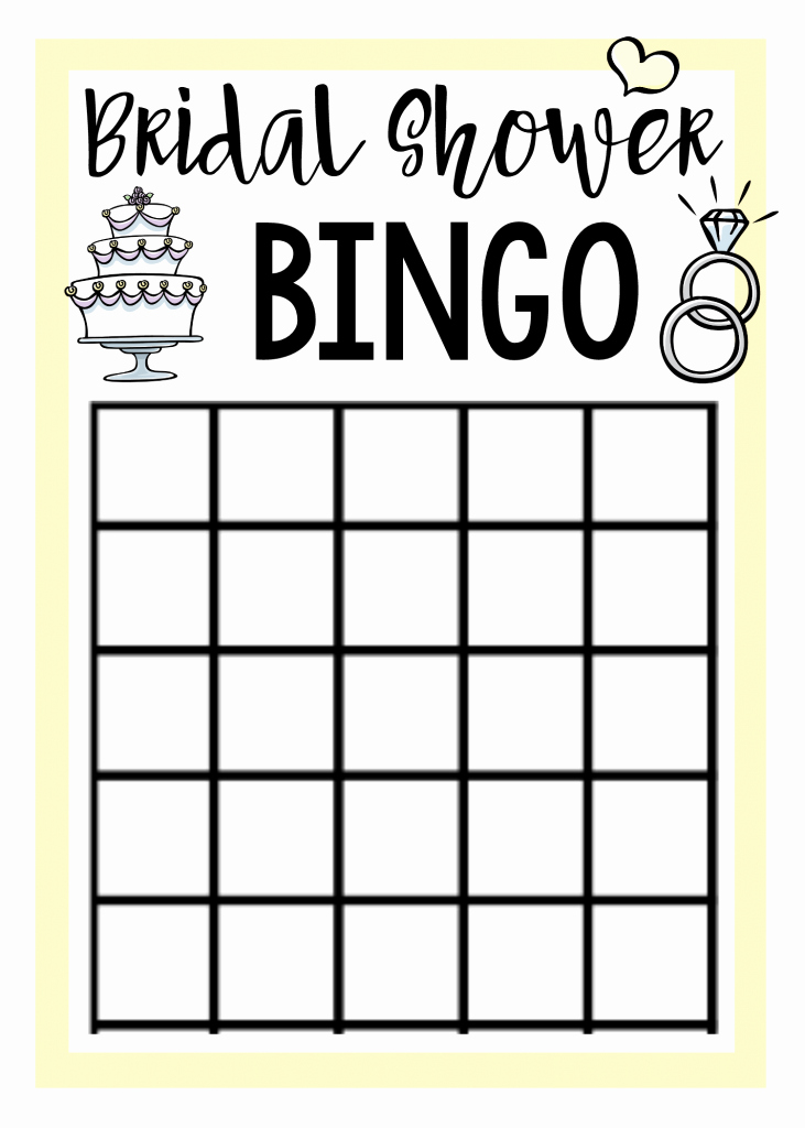 Bridal Shower Bingo Template Luxury Free Printable Bridal Shower Games – Fun Squared