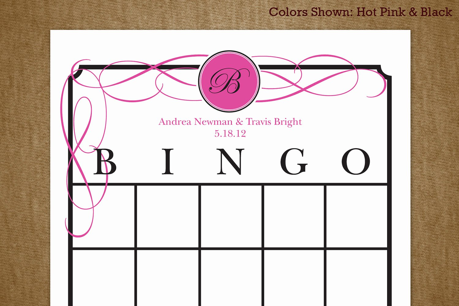 Bridal Shower Bingo Template Unique Bridal Shower Printable Bingo Game Card by Jackaroodesigningco