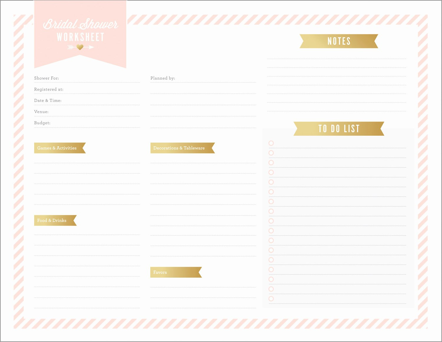 Bridal Shower Budget Template Luxury Free Printables for Bridal Shower Planning