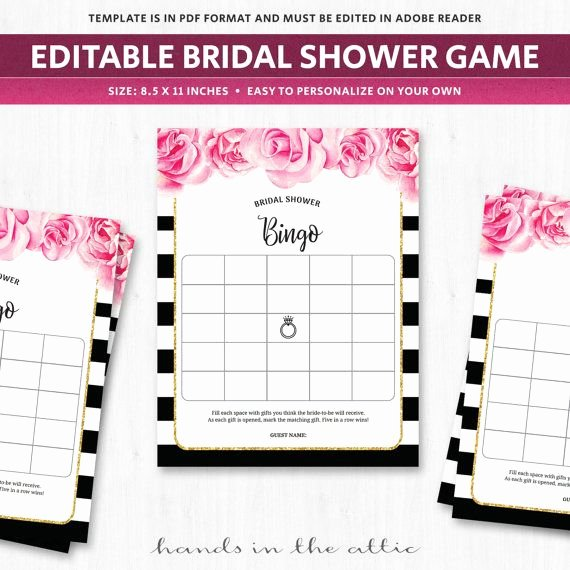 Bridal Shower Card Template Awesome 17 Best Ideas About Bingo Card Template On Pinterest