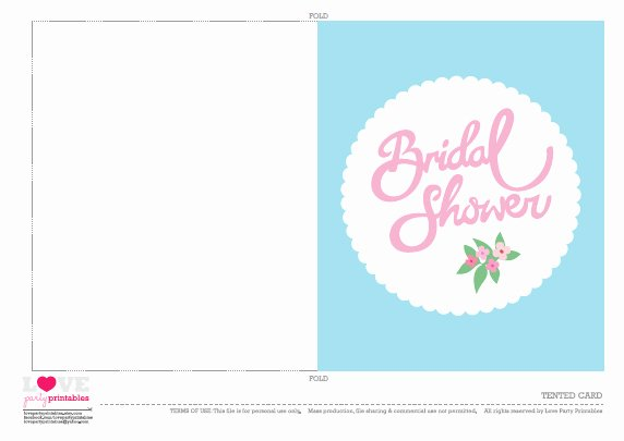 Bridal Shower Card Template Awesome Free Bridal Shower Party Printables From Love Party