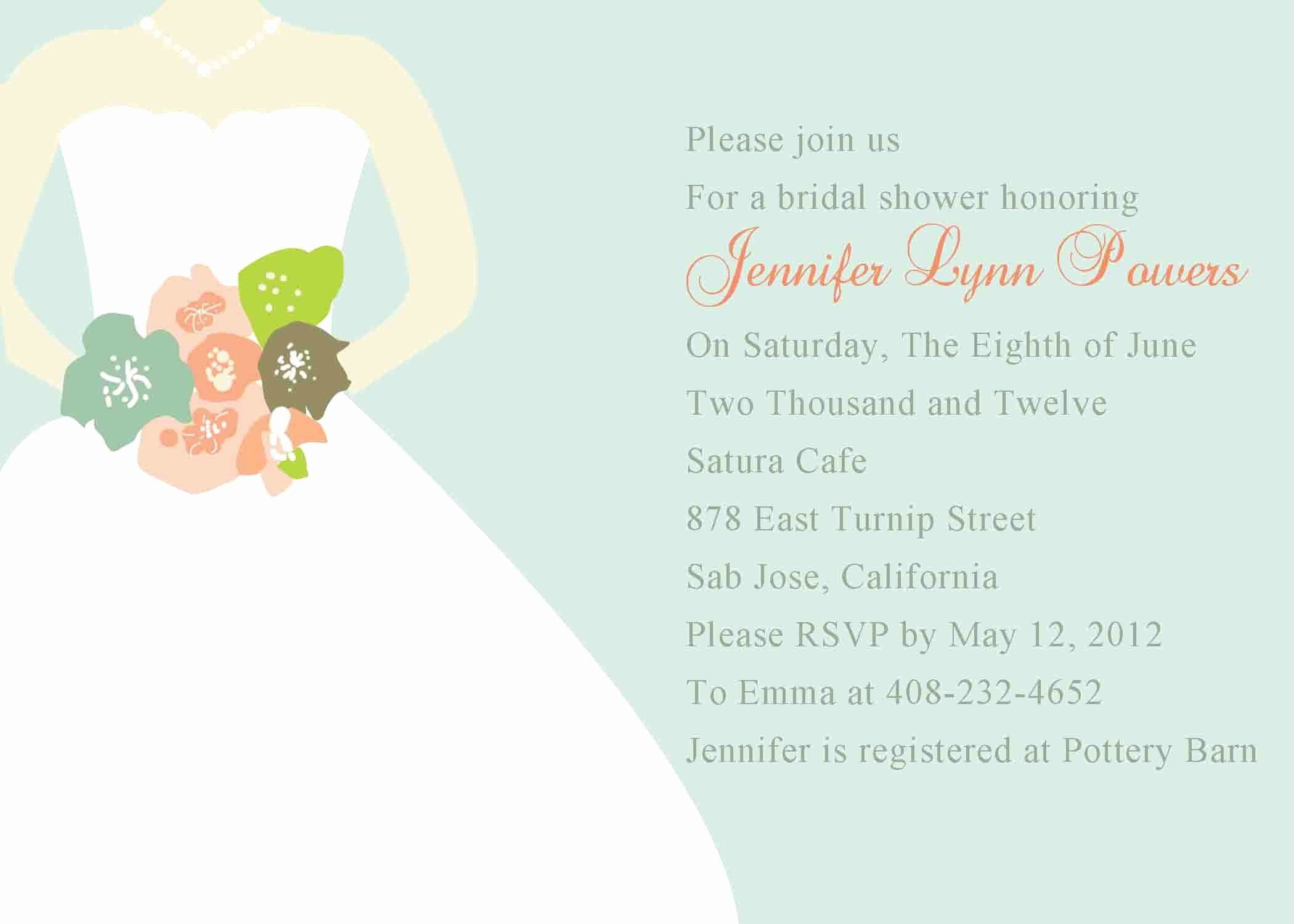 Bridal Shower Card Template Best Of Bridal Shower Invitation Templates Bridal Shower
