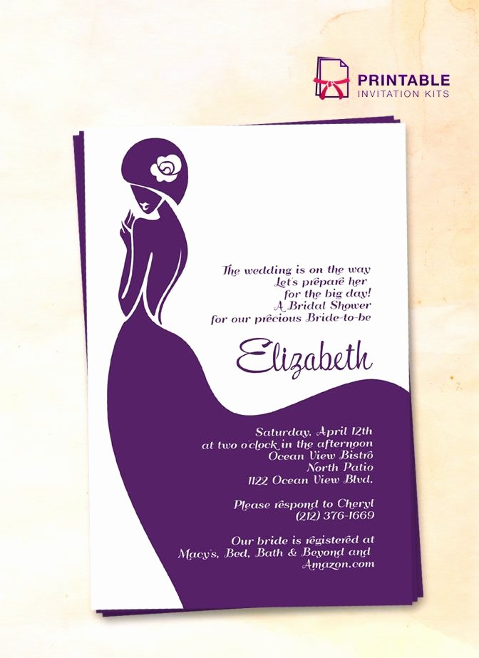 Bridal Shower Card Template Elegant 16 Best Bridal Shower Invitations Free Images On