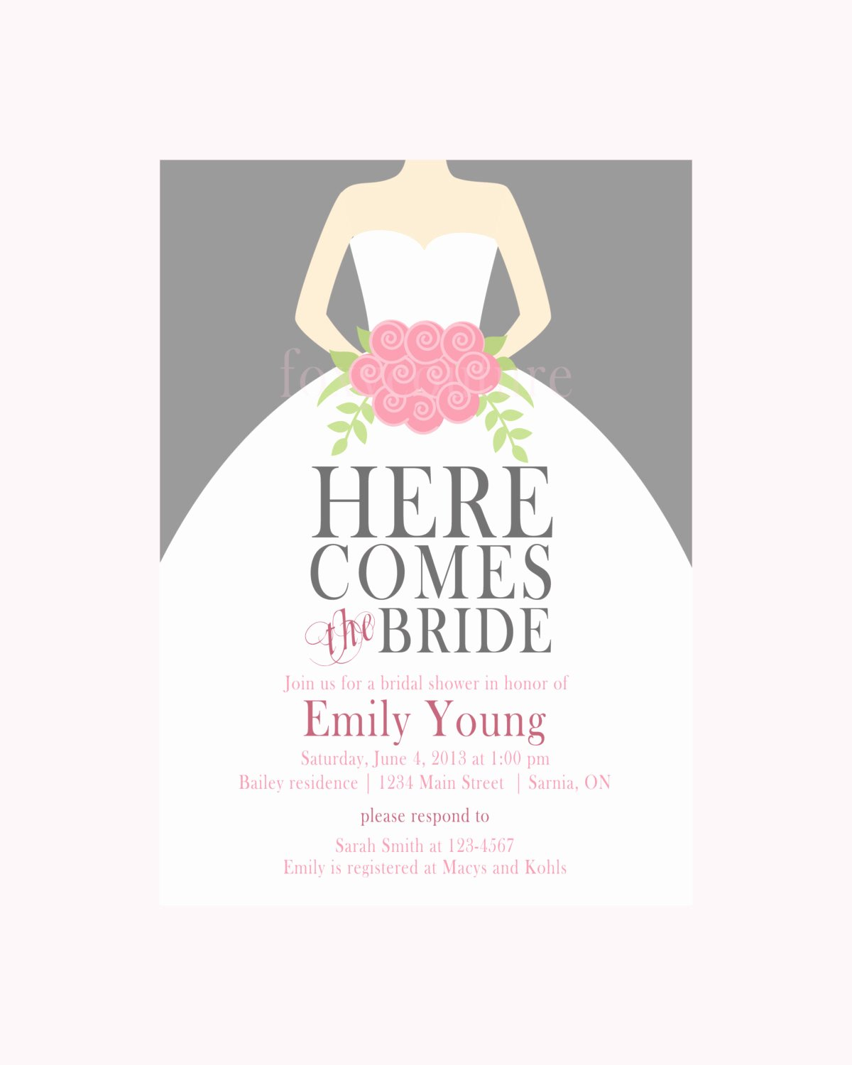 Bridal Shower Card Template Elegant 9 original Bridal Shower Invitation Blank Templates