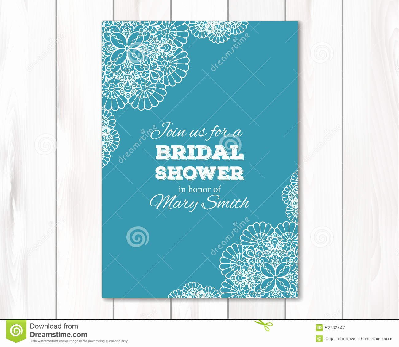 Bridal Shower Card Template Elegant Bridal Shower Wedding Invitation Card Template Stock