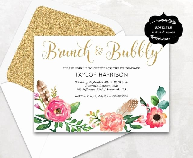 Bridal Shower Card Template New Floral Bridal Shower Template Printable Bridal Shower