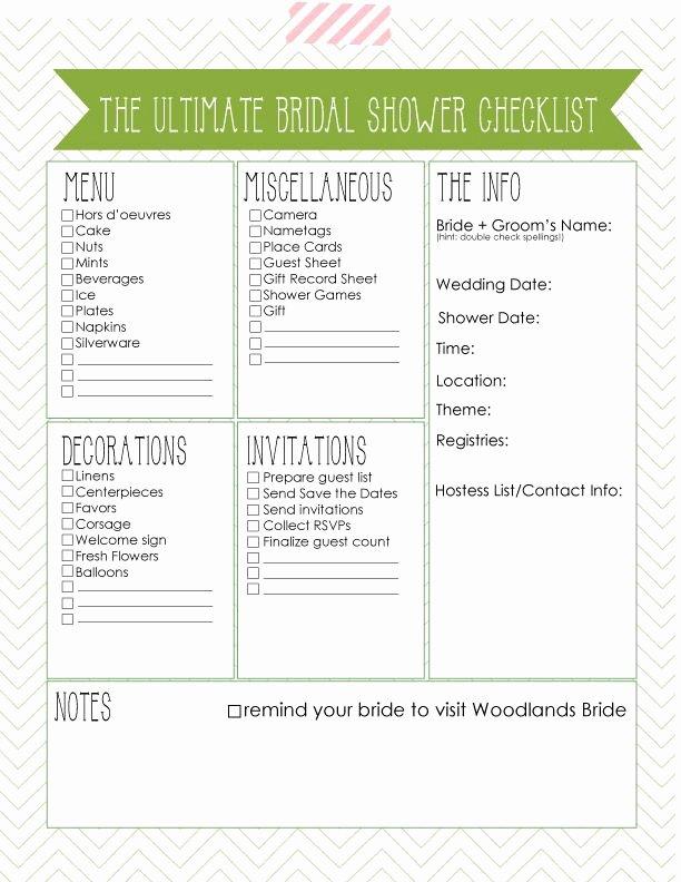 Bridal Shower Checklist Template Best Of 6 Best Of Bridal Shower Checklist Template