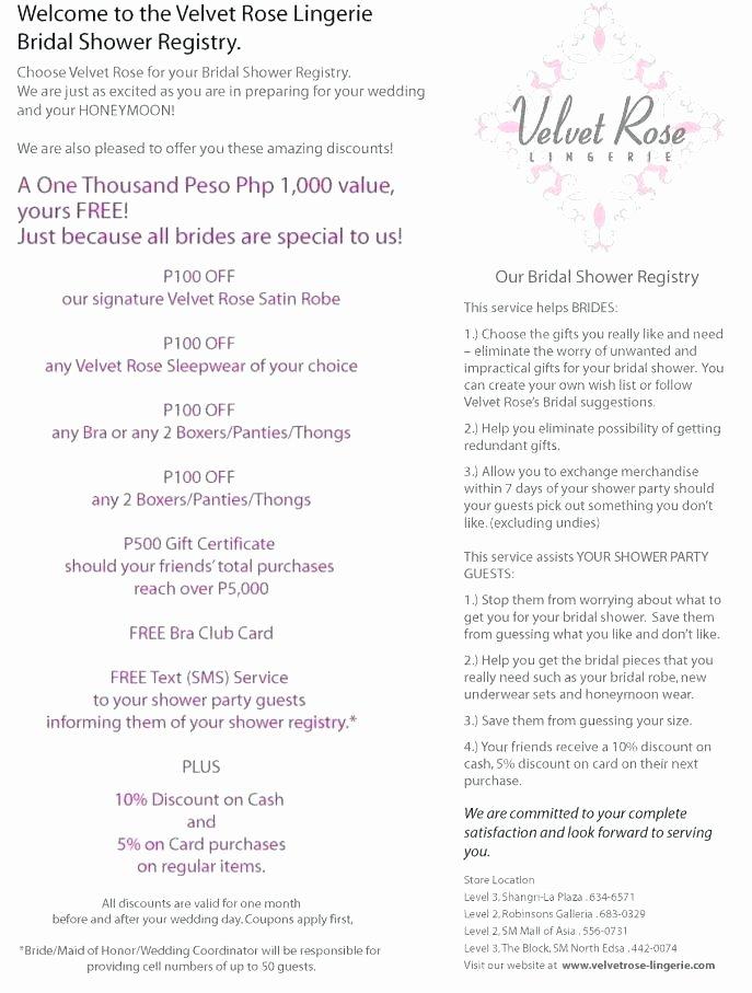 Bridal Shower Checklist Template Unique Bridal Shower Gift List Gift List Guest List Printable