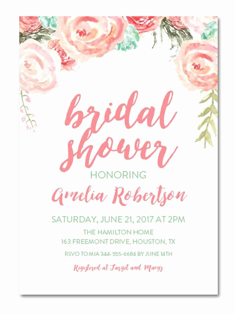 Bridal Shower Invitation Template Awesome Printable Bridal Shower Invitations You Can Diy