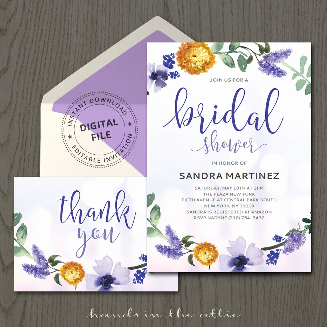 Bridal Shower Invitation Template Awesome Purple Bridal Shower Invitation Template