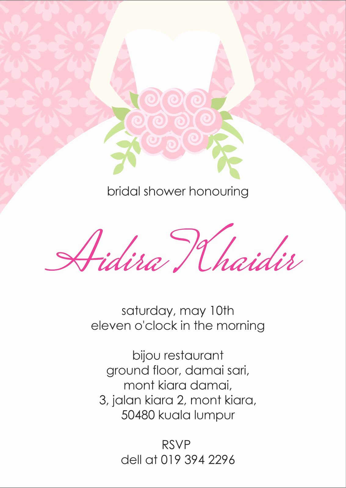Bridal Shower Invitation Template Awesome Your One Stop Wedding Centre Ts Deco Favors and