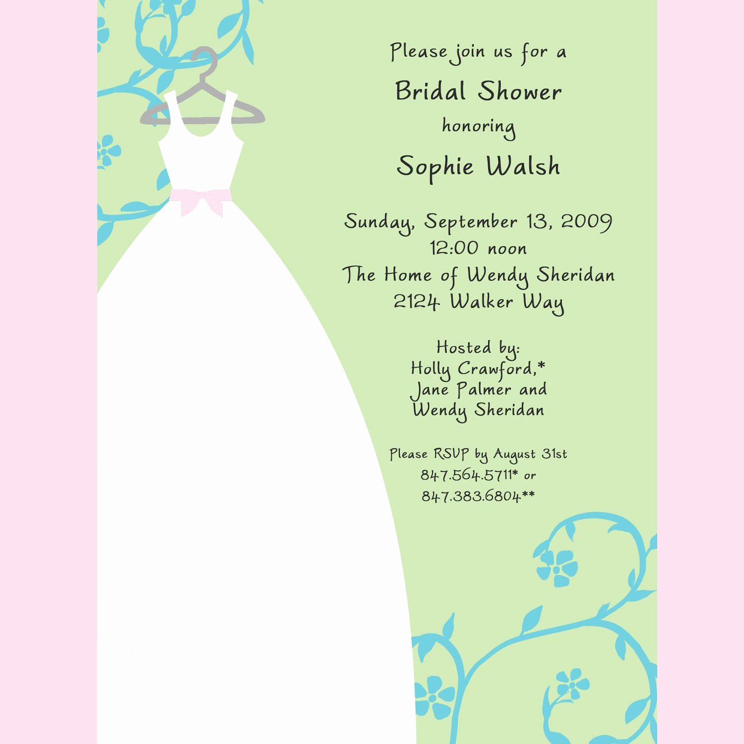 Bridal Shower Invitation Template Beautiful Bridal Shower Bridal Shower Invitations Samples Card