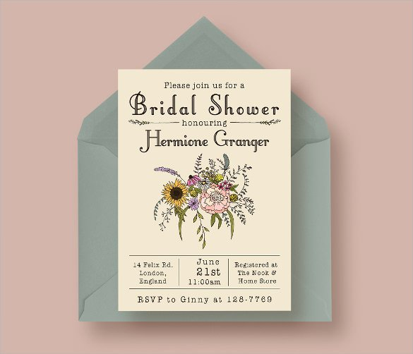 Bridal Shower Invitation Template Elegant 25 Bridal Shower Invitation Templates Download Free