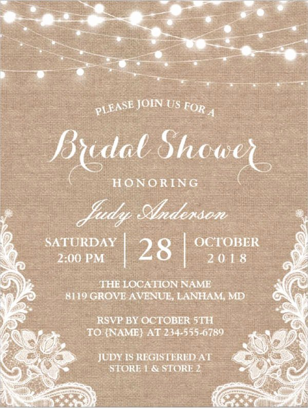 Bridal Shower Invitation Template Fresh 26 Free Bridal Shower Invitations Psd Eps