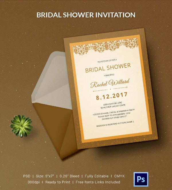 Bridal Shower Invitation Template Inspirational 25 Bridal Shower Invitations Templates