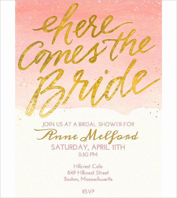 Bridal Shower Invitation Template Inspirational Wedding Invitation Template 71 Free Printable Word Pdf