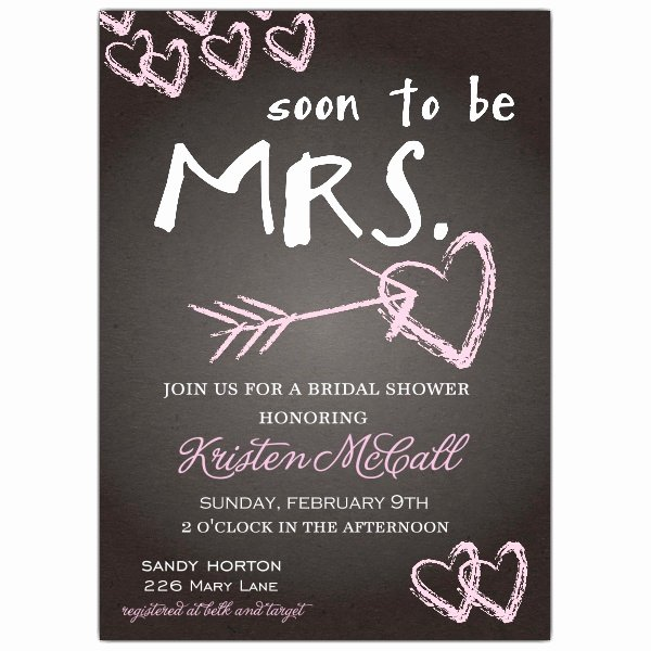 Bridal Shower Invitation Template Lovely Chalkboard Love Bridal Shower Invitations