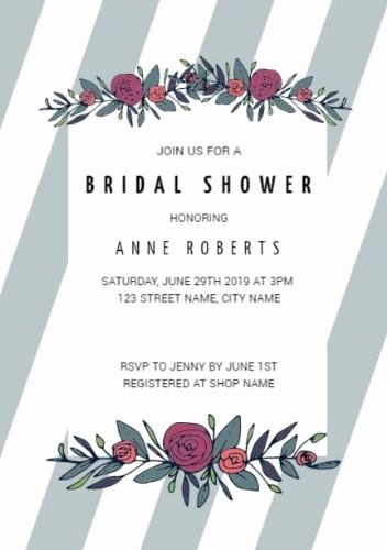 Bridal Shower Invitation Template Unique Customize Over 200 Bridal Shower Invitation Templates