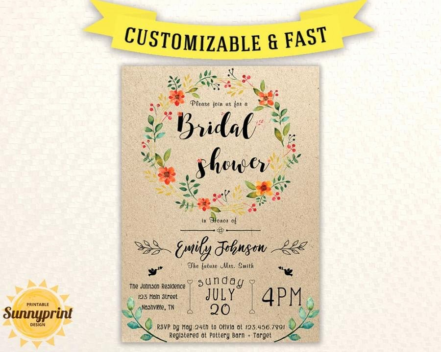 Bridal Shower Invitations Template Awesome Bridal Shower Invites Bridal Shower Vintage Bridal