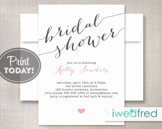 Bridal Shower Invitations Template Beautiful Bridal Shower Invitation Bridal Shower Invitation