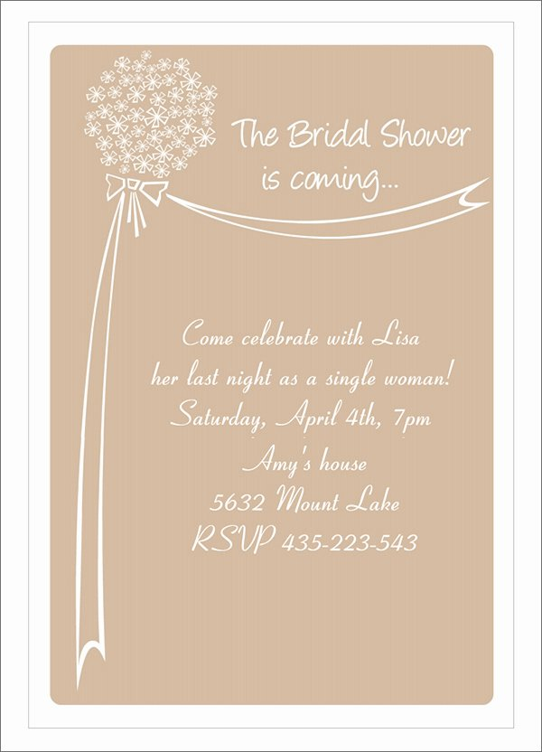 Bridal Shower Invitations Template Elegant 10 Bridal Shower Invitation Templates