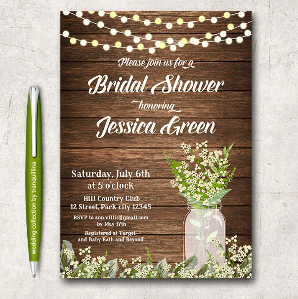 Bridal Shower Invitations Template Elegant 14 Printable Bridal Shower Invitations Examples