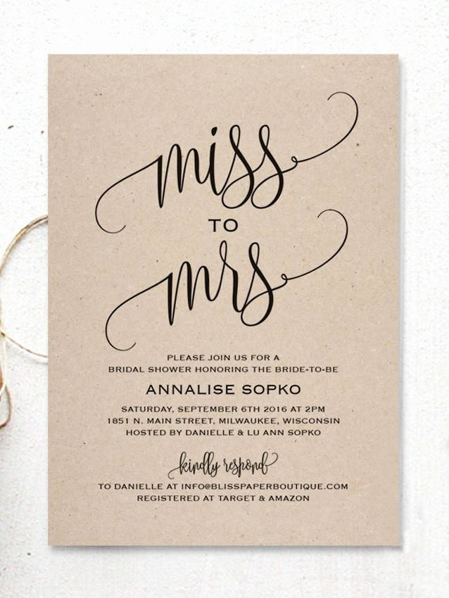 Bridal Shower Invitations Template Elegant 17 Printable Bridal Shower Invitations You Can Diy