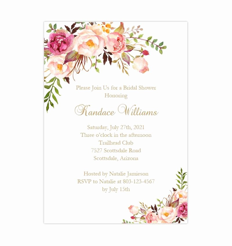 Bridal Shower Invitations Template Fresh 15 Bridal Shower Invitation Template