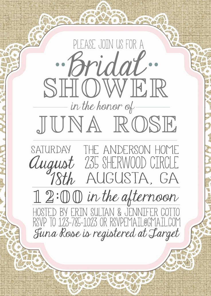 Bridal Shower Invitations Template Fresh Wedding Invitation Templates Vintage Wedding Shower