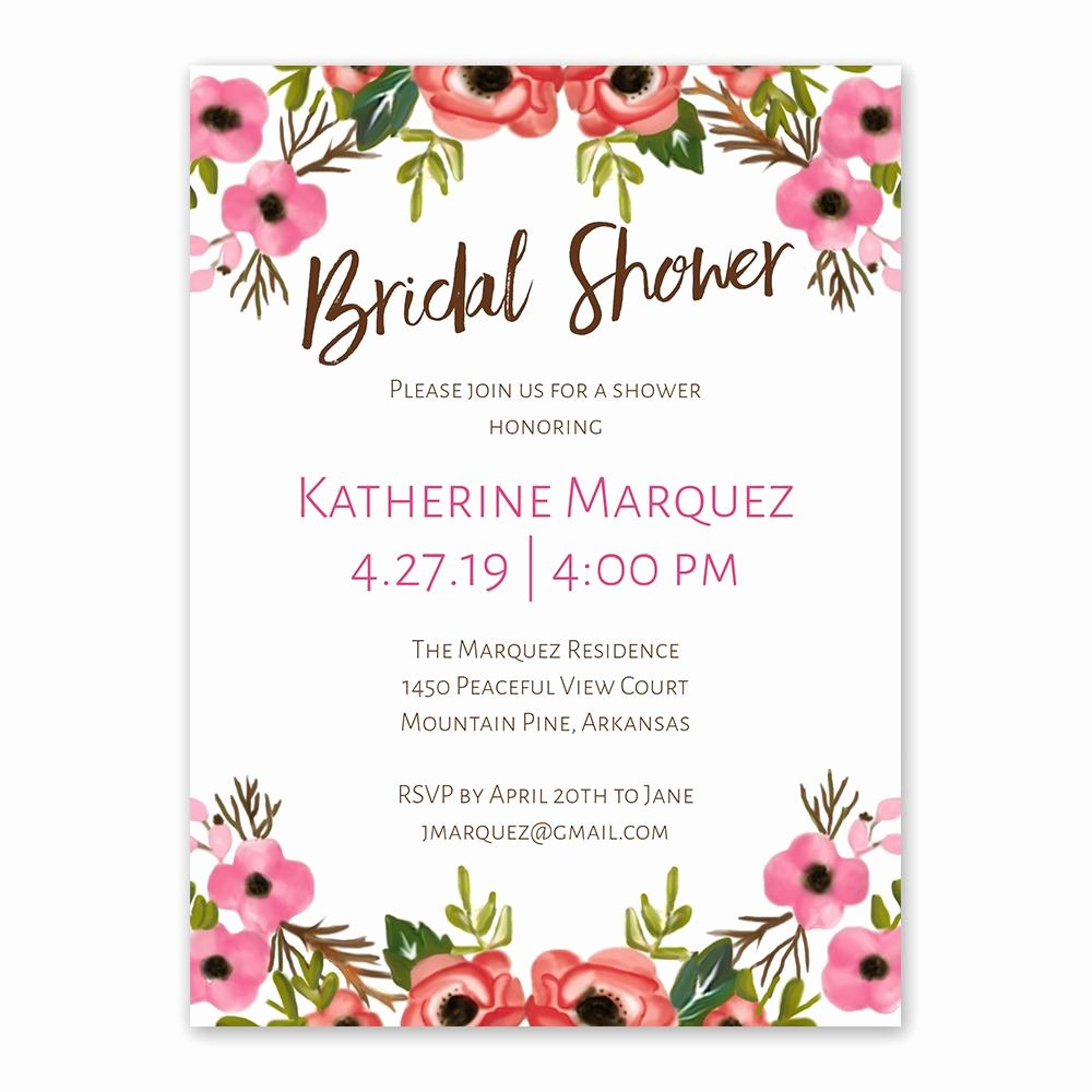 Bridal Shower Invitations Template Inspirational Blooming Beauty Bridal Shower Invitation