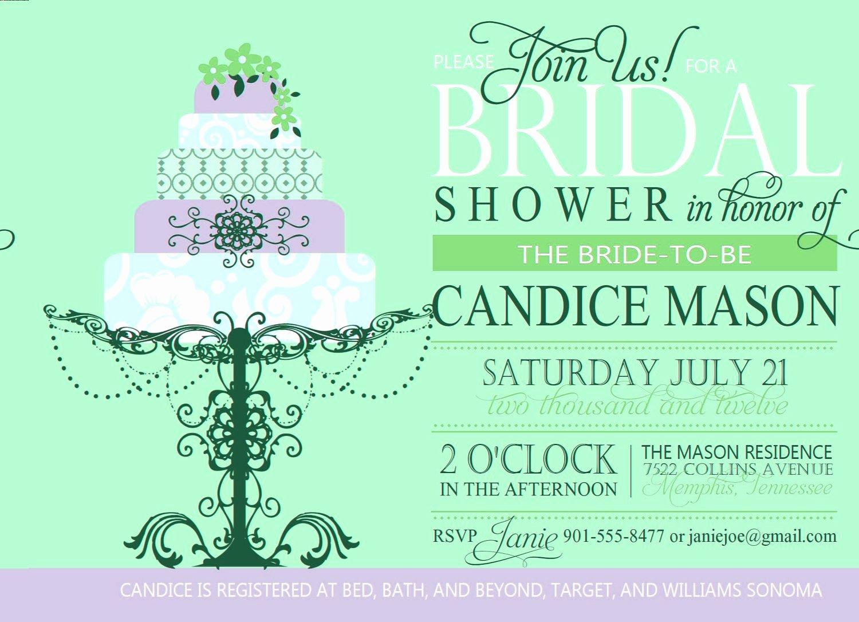 Bridal Shower Invite Template Beautiful Bridal Shower Invitation Custom Printable Digital