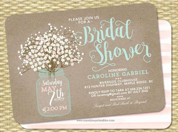 Bridal Shower Invite Template Best Of 51 Printable Bridal Shower Invitation Designs Psd Ai