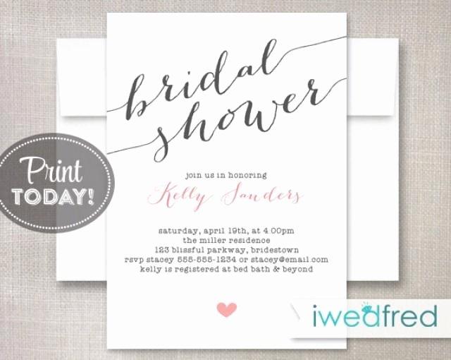 Bridal Shower Invite Template Elegant Bridal Shower Invitation Bridal Shower Invitation