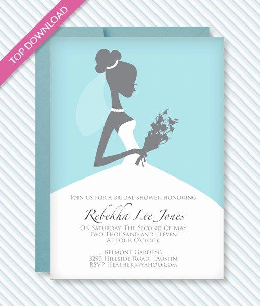 Bridal Shower Invite Template Elegant Bridal Shower Invitation Template – Download & Print