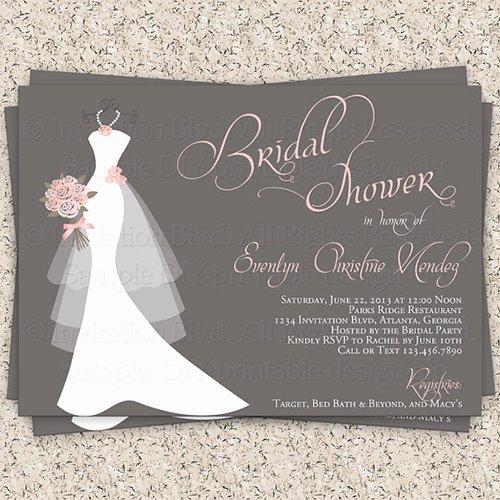 Bridal Shower Invite Template Elegant Bridal Shower Invitation Templates Bridal Shower