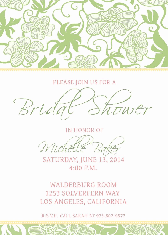 Bridal Shower Invite Template New Bridal Shower Invitations Bridal Shower Invitations Free