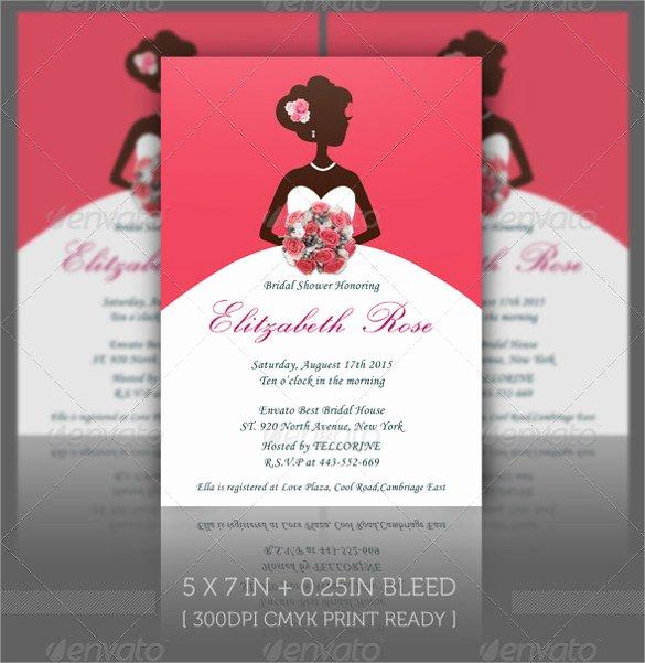 Bridal Shower Invite Template Unique 30 Best Bridal Shower Invitation Templates