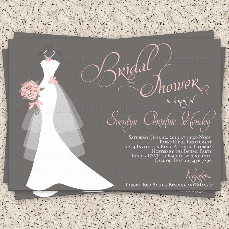 Bridal Shower Invite Template Unique Bridal Shower Gift Card Bridal Shower Invitation Wording