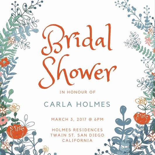 Bridal Shower Invite Template Unique Customize 636 Bridal Shower Invitation Templates Online