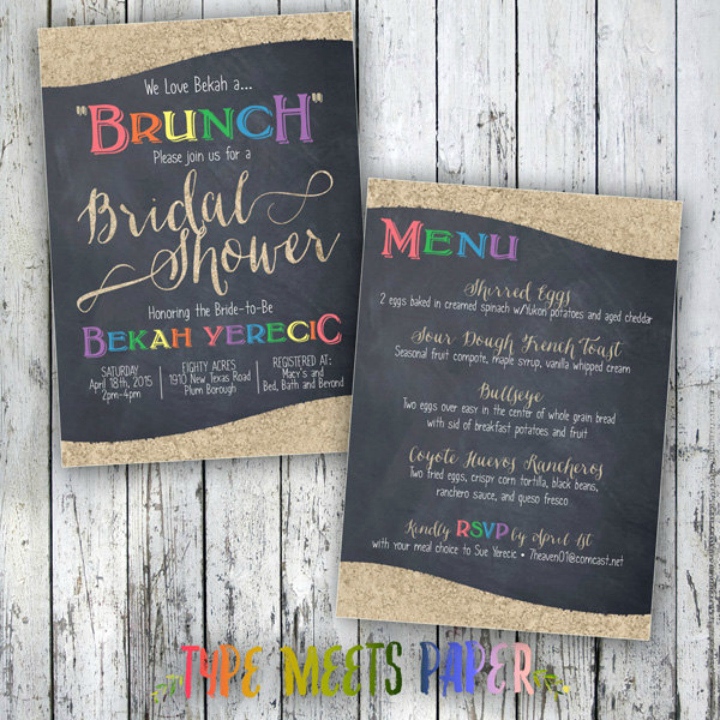 Bridal Shower Menu Template Awesome 14 Brunch Menu Templates Editable Psd Ai format