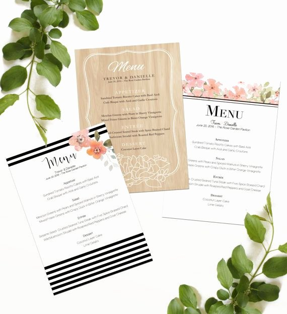 Bridal Shower Menu Template Awesome Best 25 Printable Menu Ideas On Pinterest