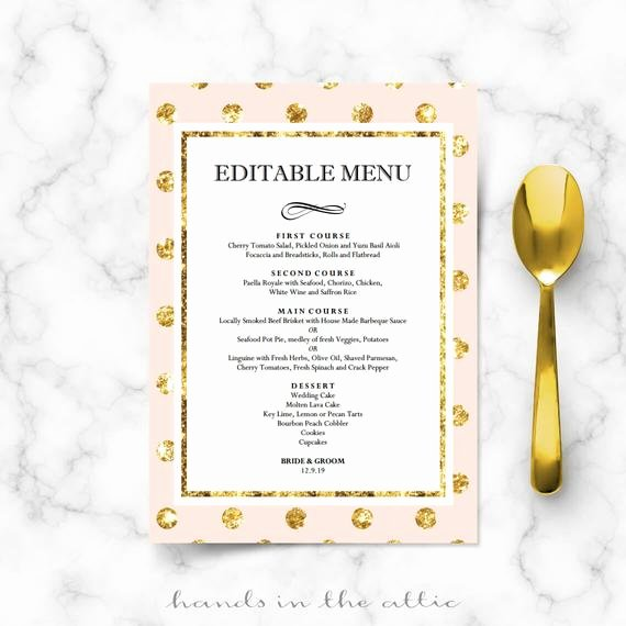 Bridal Shower Menu Template Beautiful Diy Bridal Shower Menu Cards for Wedding Reception
