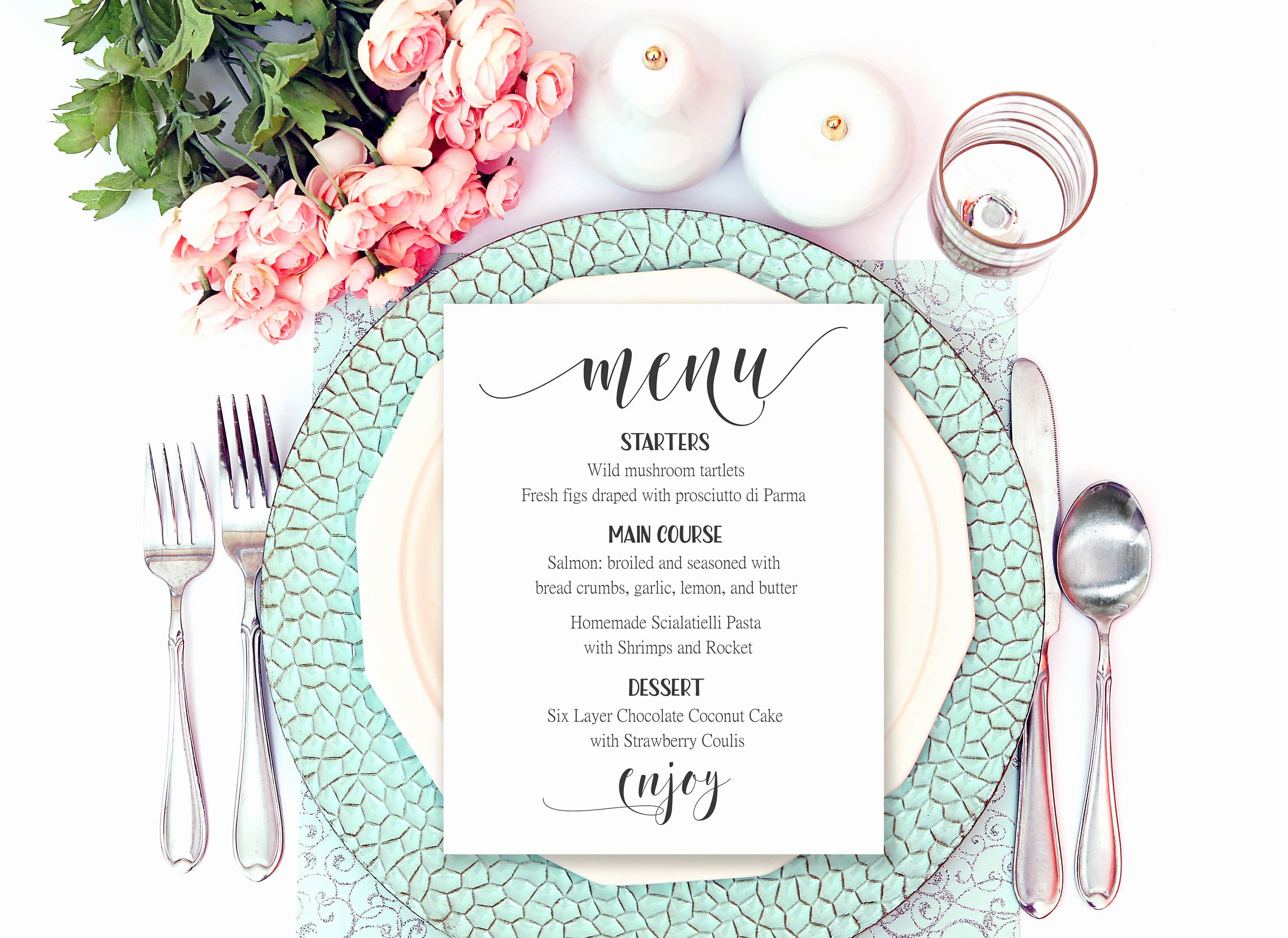 Bridal Shower Menu Template Inspirational Wedding Menu Printable Wedding Menu Template Table Menu